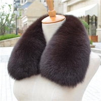 100% Real Natural Fox Fur Dyed Collar Brown - Go Steampunk