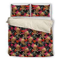 Flowers and Skulls Style 2. Bedding SetFlowers and Skulls Style 2. / US Twin - Go Steampunk