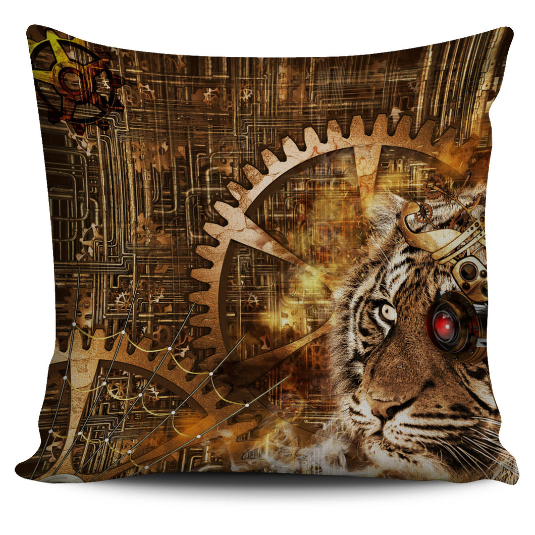 Tiger Eye Pillow Cover - Go Steampunk