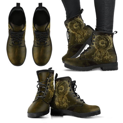 Sun Moon 2 Handcrafted Boots - Go Steampunk