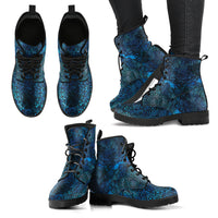 Mandala Women's Leather Boots - Go Steampunk