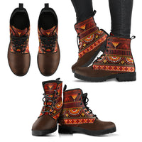 Boho Pattern Handcrafted Boots - Go Steampunk