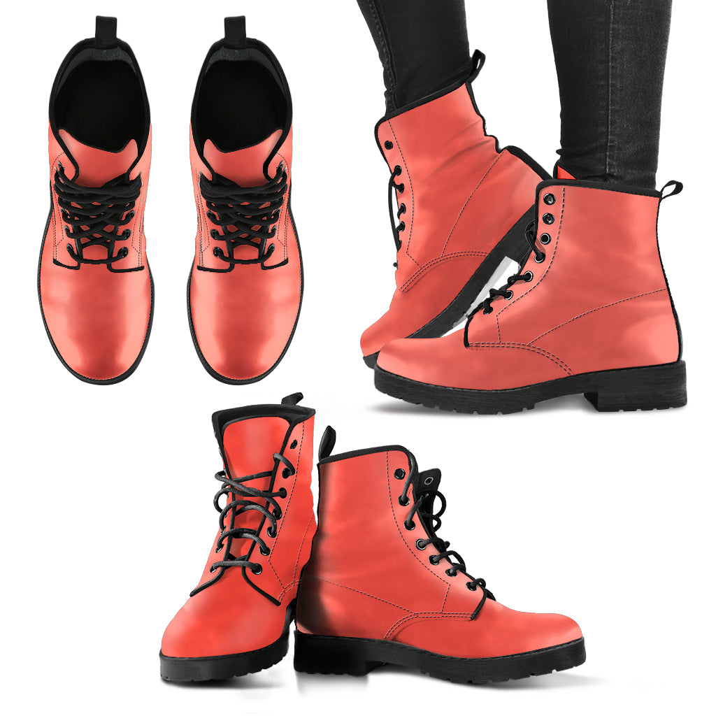 Living Coral - Leather Boots for Women - Go Steampunk
