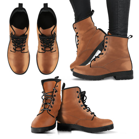 Fashion Women's Leather Boots Yellow Brown Color - Go Steampunk