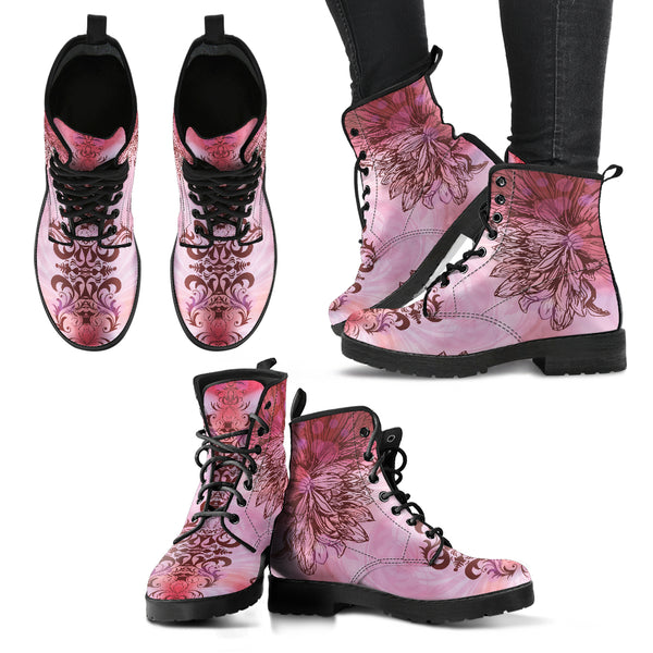 Pinklotus Women's Leather Boots - Go Steampunk