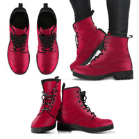 Jester Red - Leather Boots for Women - Go Steampunk