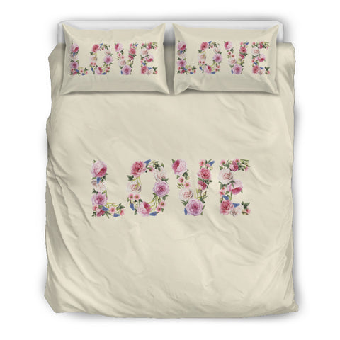 Floral Love - Sweet Corn - Bedding Set (Beige) Bedding SetFloral Love - Sweet Corn - Bedding Set (Beige) / US Twin - Go Steampunk