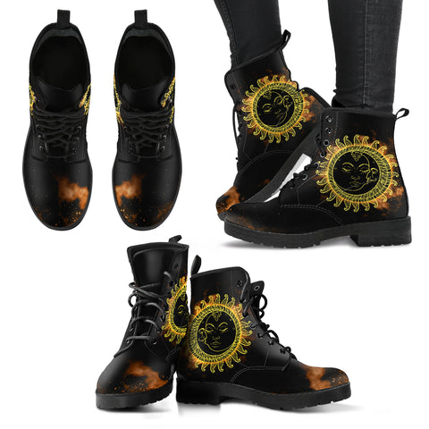 Sun & Moon Handcrafted Boots V2 - Go Steampunk