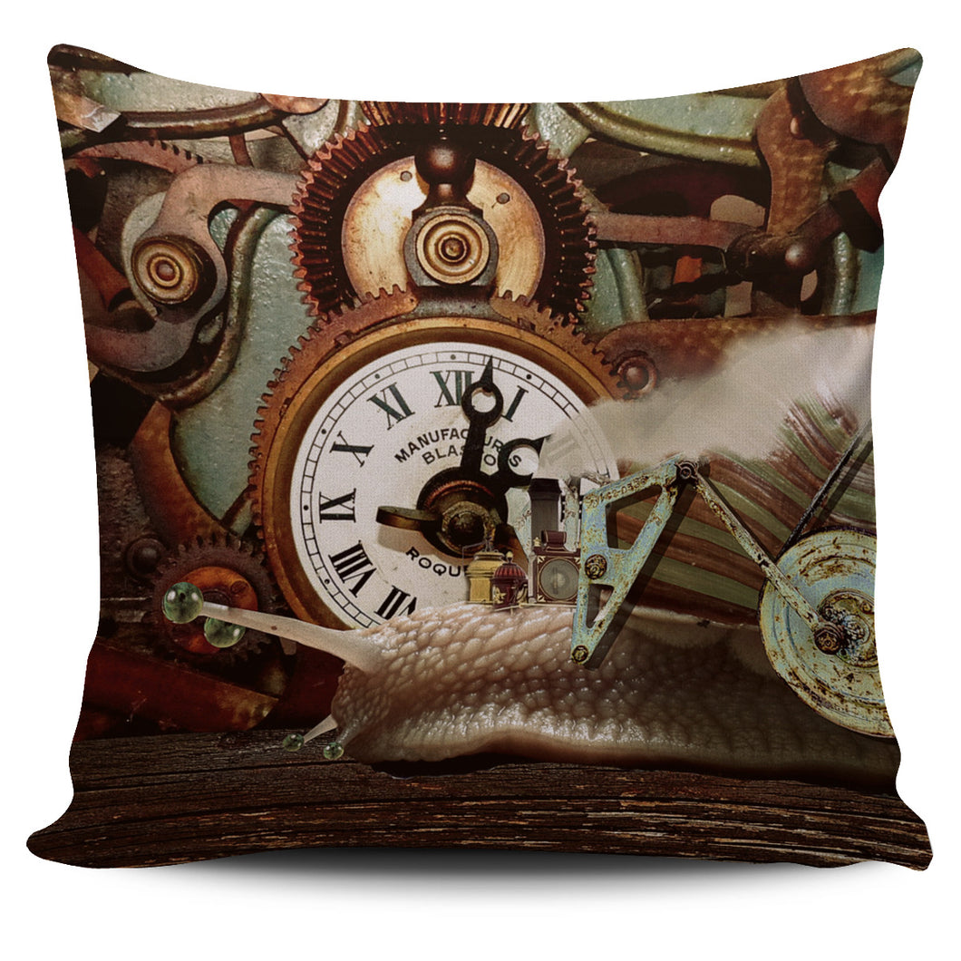 Snail Time Pillow Cover - Go Steampunk
