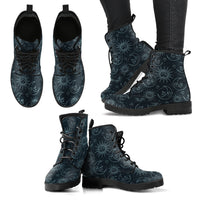 Sun & Moon Handcrafted Boots - Go Steampunk