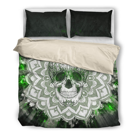 Green Skull. Bedding SetGreen Skull. / US Twin - Go Steampunk