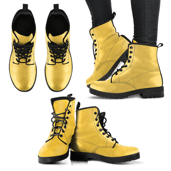 Gold - Leather Boots for Women - Go Steampunk