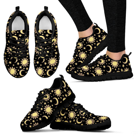 Sun and moon women's sneakers - Go Steampunk
