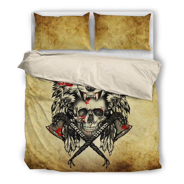 Wolf and Skull Bedding SetWolf and Skull / US Twin - Go Steampunk
