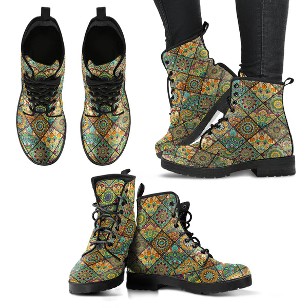 Handcrafted Mandalas 2 Boots - Go Steampunk