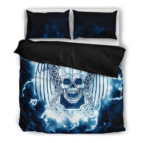 Skull and Lighting. Bedding SetSkull and Lighting. / US Twin - Go Steampunk