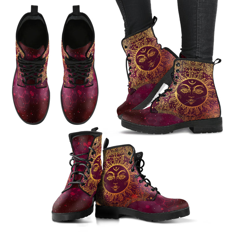 Sun Handcrafted Boots - Go Steampunk