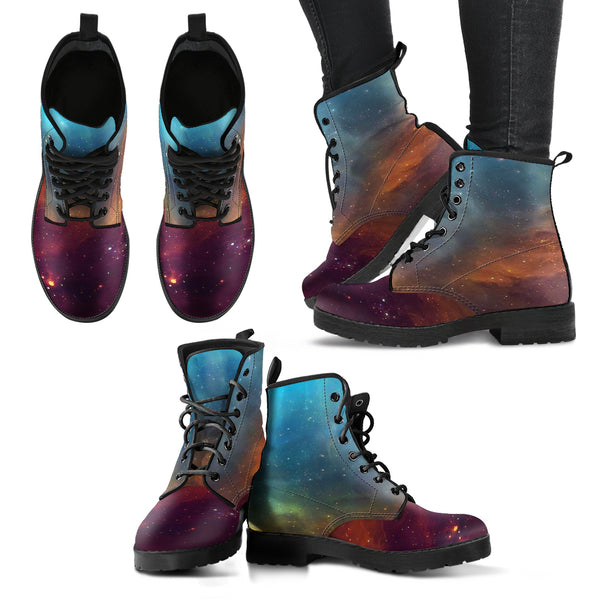 NP Universe theme Women's Leather Boots - Go Steampunk