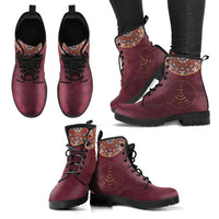 Mandala Peace Handcrafted Boots - Go Steampunk