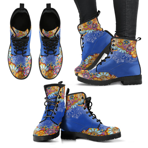 Henna Women's Leather Boots - Go Steampunk