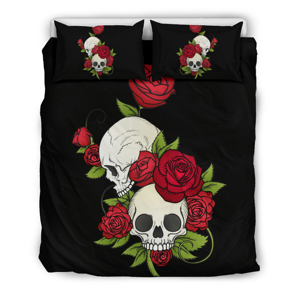 Skulls and Roses Bedding Set Bedding SetSkulls and Roses Bedding Set / US Twin - Go Steampunk