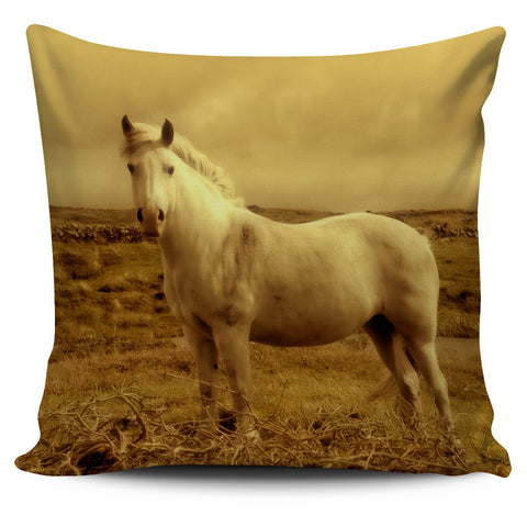 White Horse Pillow Cover - Go Steampunk