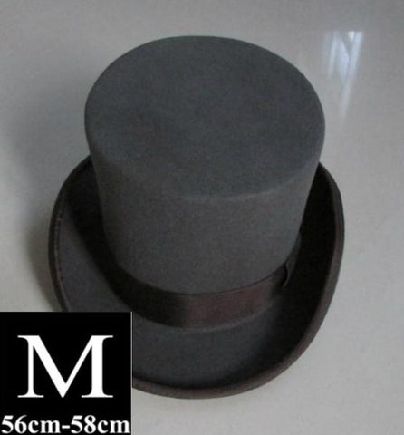 130fb55a898ad 13.5cm Height Wool Top Hat – Go Steampunk