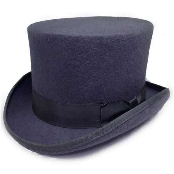 13.5cm Height Wool Top Hat - Go Steampunk