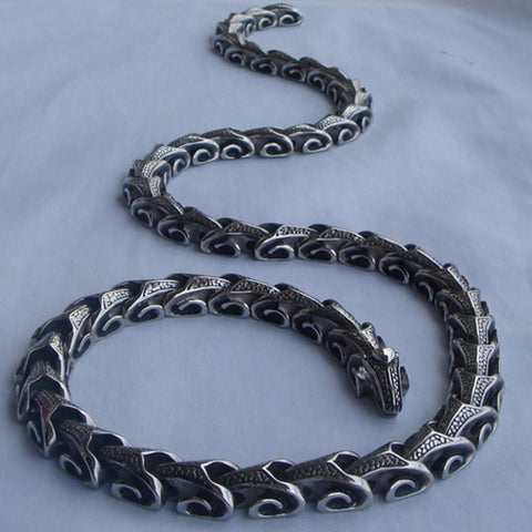 Dragon Link convertible stainless steel necklace or bracelet 16-40'' varying length