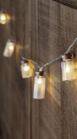 Glass Jar String Lights with 20 LED Lights