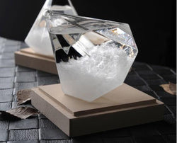 Diamond Shape Storm Glass/Weather Forecast Bottle