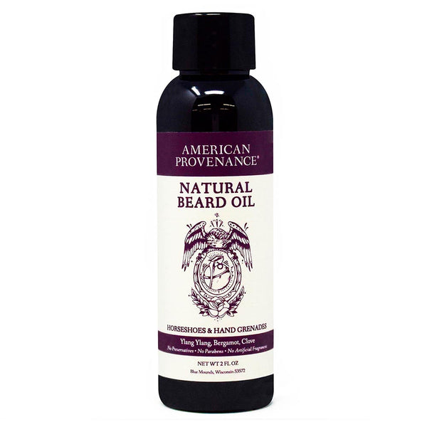 American Provenance Horseshoes & Hand Grenades Beard Oil 2 FL. OZ. - Go Steampunk