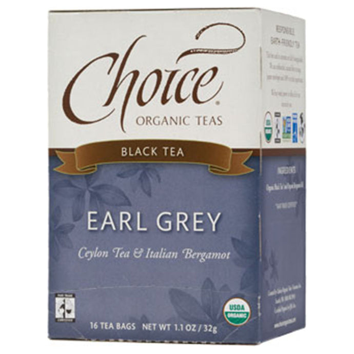 CHOICE TEAS EARL GREY ORGANIC TEA BAGS 16 TEA BAGS - Go Steampunk