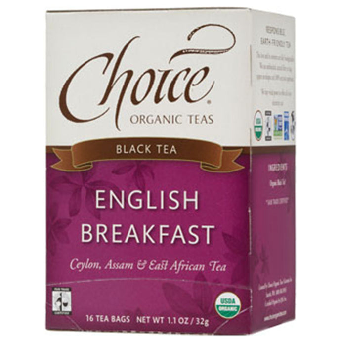 CHOICE TEAS ENGLISH BREAKFAST ORGANIC TEA BAGS 16 TEA BAGS - Go Steampunk
