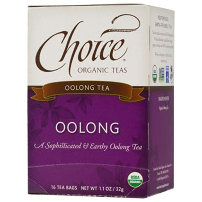 CHOICE TEAS OOLONG ORGANIC TEA BAGS 16 TEA BAGS - Go Steampunk