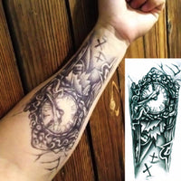 Large Steampunk Clock Temporary Tattoo - Go Steampunk