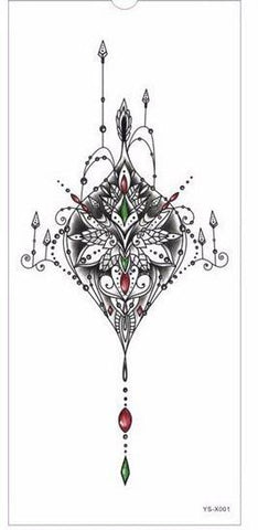 Chest or Sternum Temporary Tattoo