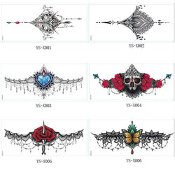 Chest or Sternum Temporary Tattoo - Go Steampunk