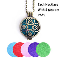 Aromatherapy Diffuser Locket With Pads 5 - Go Steampunk