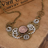 Gears Connected Steampunk Necklace