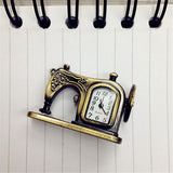 Retro Sewing Machine Keychain Watch
