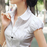 Puffed Sleeve Ladies Blouse