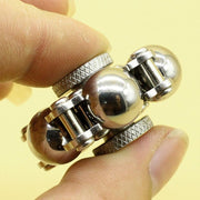 Stainless Steel Ball Bearing Widget Fidget with Stand - Go Steampunk