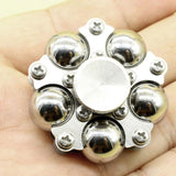 Stainless Steel Ball Bearing Widget Fidget with Stand