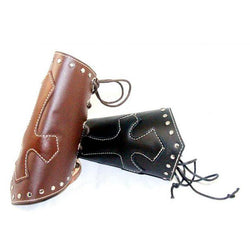 Cross Design Leather Bracer