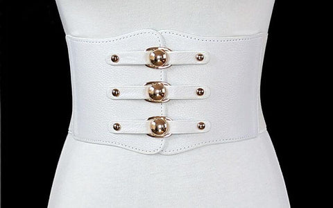 Leather Rivet and Elastic Waist Cincher