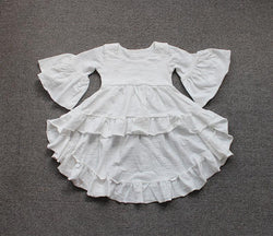 White Cotton Vintage Ruffles Children's Shirt White / 3T - Go Steampunk