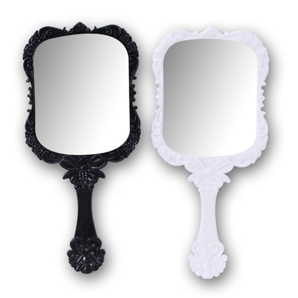 Plastic Vintage Hand Held Makeup Mirror
