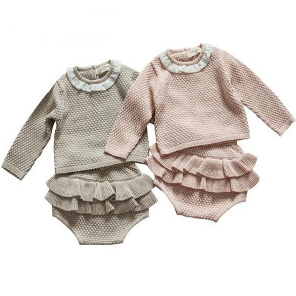 Ruffles Baby Cotton Knitted Suit