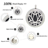 Round Magnetic Stainless steel aromatherapy essential oil locket necklace - Go Steampunk